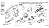 Related Parts for Infiniti FX35 Glove Box - 68500-CL75A