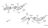 Diagram for Infiniti Catalytic Converter - B08B3-1MD0B