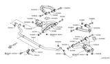 Diagram for Infiniti Sway Bar Bushing - 54613-1LA0A