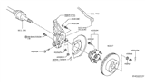 Diagram for Infiniti Wheel Stud - 43222-70T0A