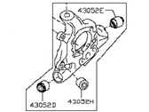 Infiniti 43019-1AA0A HOUSING-REAR AXLE,LH