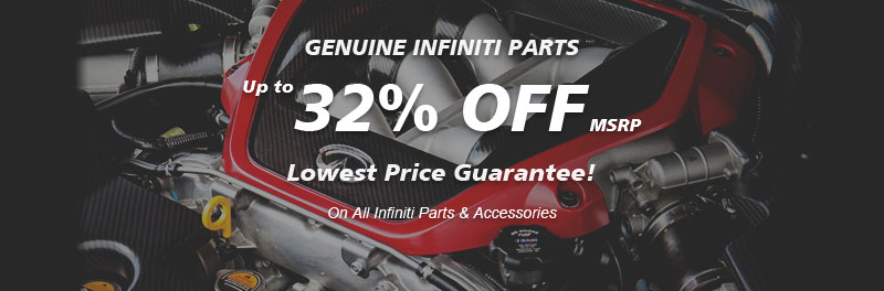 Genuine Infiniti parts, Guaranteed low price